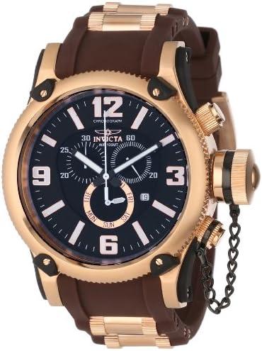 Invicta Men s 11364 Russian Diver Chronograph Black Dial Brown Polyurethane Watch