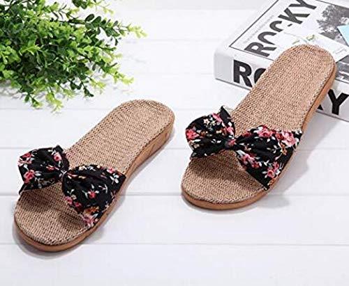 Confortables de Pantoufles Coton Femmes pour d'intérieur Vert Bqt8wdt0