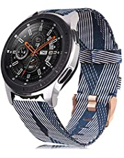 Auler Compatible with Samsung Galaxy Watch 46mm Band/Gear S3 Frontier/Classic Band, Woven Fabric Accessories Strap Wrist Band Compatible with Samsung Galaxy Watch 46mm Smartwatch