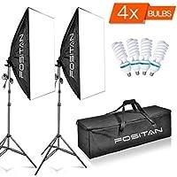 FOSITAN 1600W LED Photography Studio Lighting Light Kit Softbox, Photo Studio Kit Photo Portrait Video Photography Shoot 20x28 LS-2000