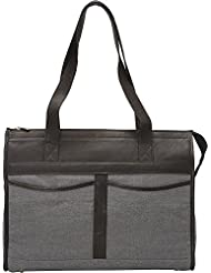 Piel Leather Travel Tote Bag, Black, One Size