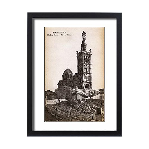 Framed 24x18 Print of Notre Dame de la Garde, Marseille, France (11561854) by Prints Prints Prints