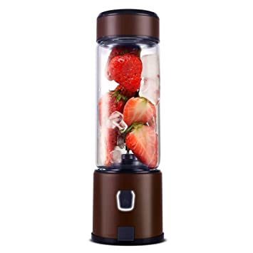 Portable Glass Smoothie Blender, Kacsoo SPOW S630 USB Rechargeable Personal Blender Juicer Cup, Single Serve Travel Blender for Shakes and Smoothies, ...