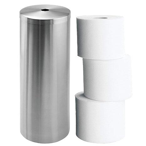InterDesign - Forma - Lata para almacenar papel higiénico - Acero inoxidable pulido