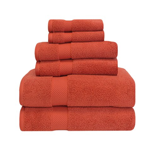 Superior Zero Twist 100% Cotton Bathroom Towels, Super Soft, Fluffy, and Absorbent, Premium Quality 6 Piece Towel Set with 2 Washcloths, 2 Hand Towels, and 2 Bath Towels - (Best Superior Bath Towel Sets)