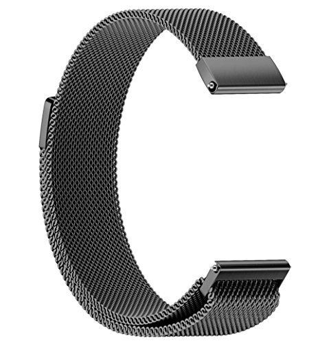 Watchband for Samsung Gear S4, Forthery Replacement Metal Adjustable Bracelet Mesh Loop Watch Bands (Black)