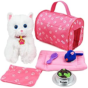 51XkHIm vrL. SS300  - Click N' Play 8 Piece Doll Kitten Set and Accessories. Perfect for 18 inch American Girl Dolls