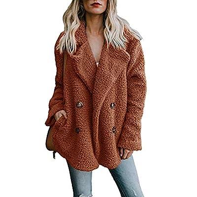 Toimoth Women's Winter Warm Casual Jacket Parka Outerwear Open Drape Lapel Button Coat Overcoat