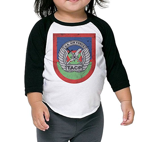 Hot Children's Middle Sleeve T Shirt Tops - US Army Retro US Airforce Tactical Air Control Party