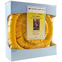 "Pre-Cut Spiral Wrap Hose Protector, 2.0"" OD, 10' Length, Yellow"