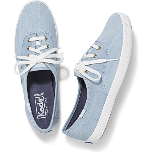 Keds Women's Champion Seasonal Solid Sneaker, Light Blue, 6.5 M US - Keds Canvas Sneakers