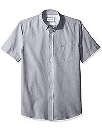 Men's Short Sleeve Oxford Button Down Collar Regular Fit Woven Shirt, CH4975