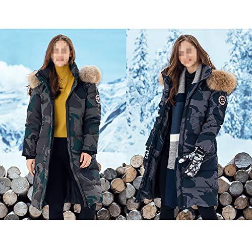 Tamaño Larga Plumón Collar B Xl Ganso Mujer De Chaquetas color W Grande Chaqueta Coat Sección Slim Qsjydown Espesar B Fit X4Twzz