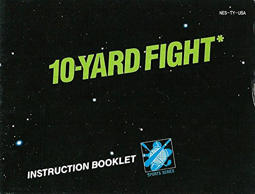(10-Yard Fight NES Instruction Booklet (Nintendo Manual ONLY - NO GAME) Pamphlet - NO GAME INCLUDED)