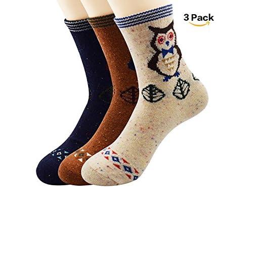 1512c4924ea9e on sale Zando Athletic Women Girls Knit Pattern Winter Cashmere Vintage  Cabin Socks Crew Retro Thick