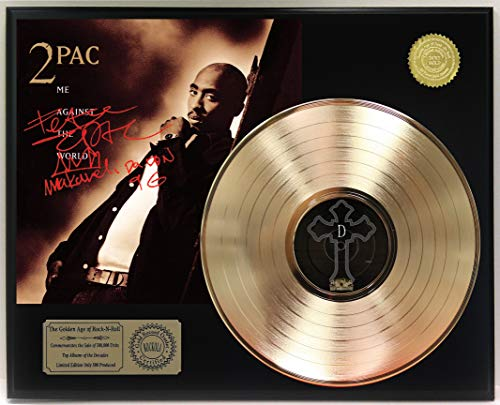 Tupac Me Against The World Gold Lp Ltd Reproduction Signature Display C3