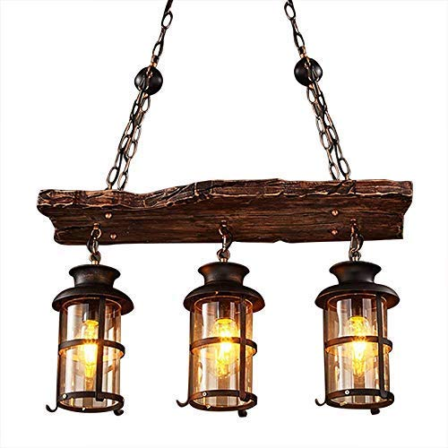 RUNNUP Lámpara de iluminación de techo Vintage Lámpara colgante ...