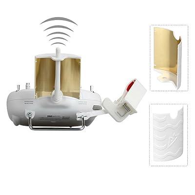 RCGEEK Range Extender Signal Booster Antenna Copper Parabolic Compatible with DJI Phantom 3 Standard Phantom 3 SE Remote Controller: Toys & Games