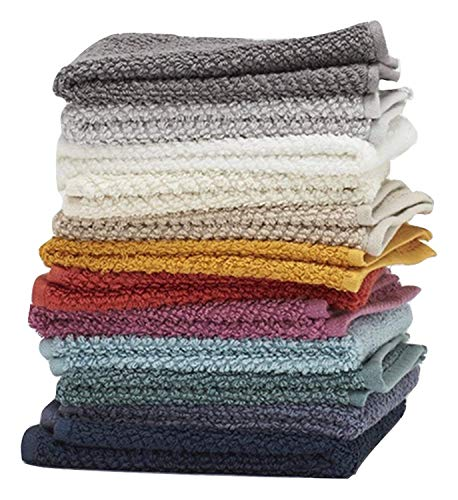 "Washcloths, 12 Pack, 100% Extra Soft Ring Spun Cotton Wash Cloth, Size 13"" X 13"", Soft and Absorbent, Machine Washable, Vibrant Assorted Colors"