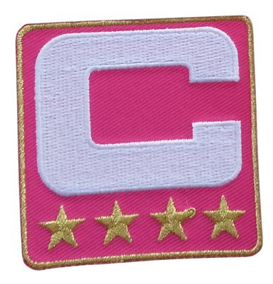 pink-captain-c-patch-4-gold-stars-iron-on-for-jersey-football-baseball-soccer-hockey-lacrosse-basket