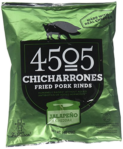 4505 Chicharrones (Fried Pork Rinds) (Jalapeno Cheddar), 4 Pack