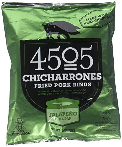 (4505 Chicharrones (Fried Pork Rinds) (Jalapeno Cheddar), 4 Pack)