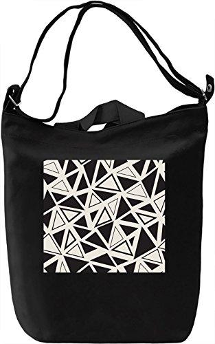 Black and White Triangles Texture Borsa Giornaliera Canvas Canvas Day Bag| 100% Premium Cotton Canvas| DTG Printing|