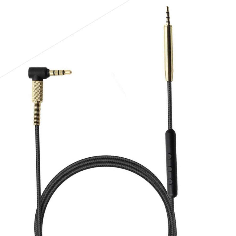 Cavo audio di ricambio per JBL Synchros S300I S300a S500 S400BT J56BT E40BT E30 E40 E50BT S400BT J55a J55i J88a J88i con telecomando per microfono per Android e iOS