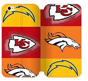 Hoomin San Diego Chargers Denver Broncos Kansas City Chiefs Case For Iphone 6 4.7Inch Cover Cell Phone Cases Cover Popular Gifts(Laster Technology)