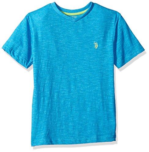 U.S. Polo Assn. Boys Short Sleeve Solid V-Neck T-Shirt