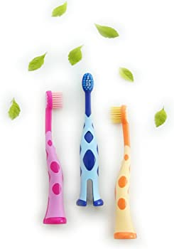 3-Pack Homestylish Extra Soft Kids Toothbrush
