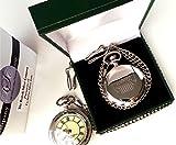 The British silver company Men's Jeep Silver Plated Wrangler Grand Cherokee Full Hunter Pocket Watch
