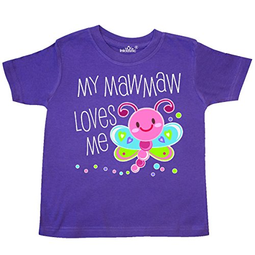 inktastic - My Mawmaw Loves Me- Cute Dragonfly Toddler T-Shirt 3T Purple 305c9