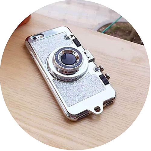 (Attrastores Necklace Case iPhone 7 8 6s Plus X Bling Glitter Phone Cases Coque iPhone 6Plus 7Plus 8Plus,Pink 7Plus 8Plus,Silver,foriPhoneX)