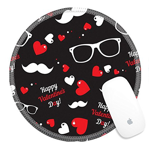 Luxlady Round Gaming Mousepad 29825486 Pattern for fabric design - Eyeglasses For Shaped Faces Heart