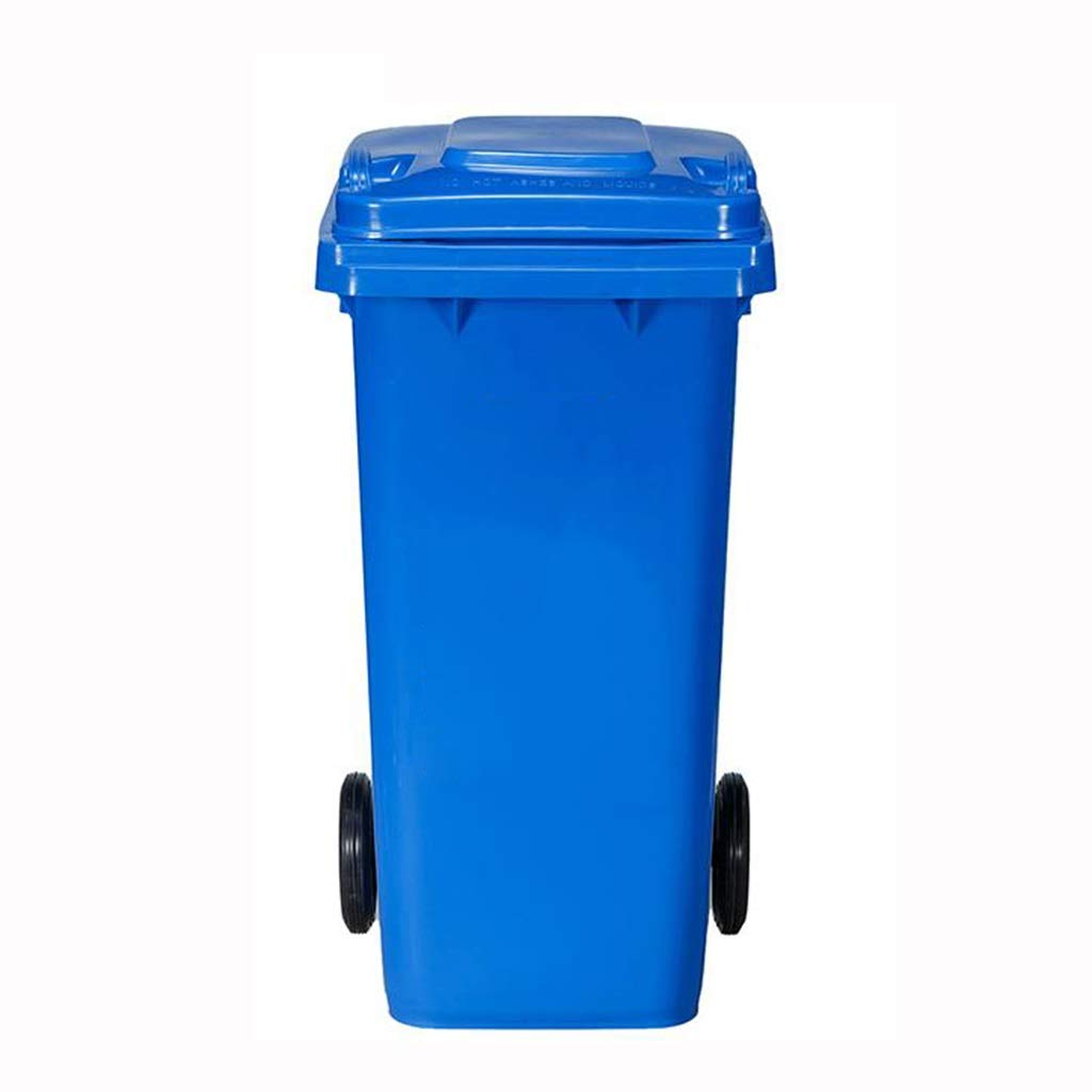 MCGMXG Outdoor Trash Can Large Commercial Four-Color Classification Recyclable Trash Can -12L Multi-Color Optional Trash can (Color : Blue)