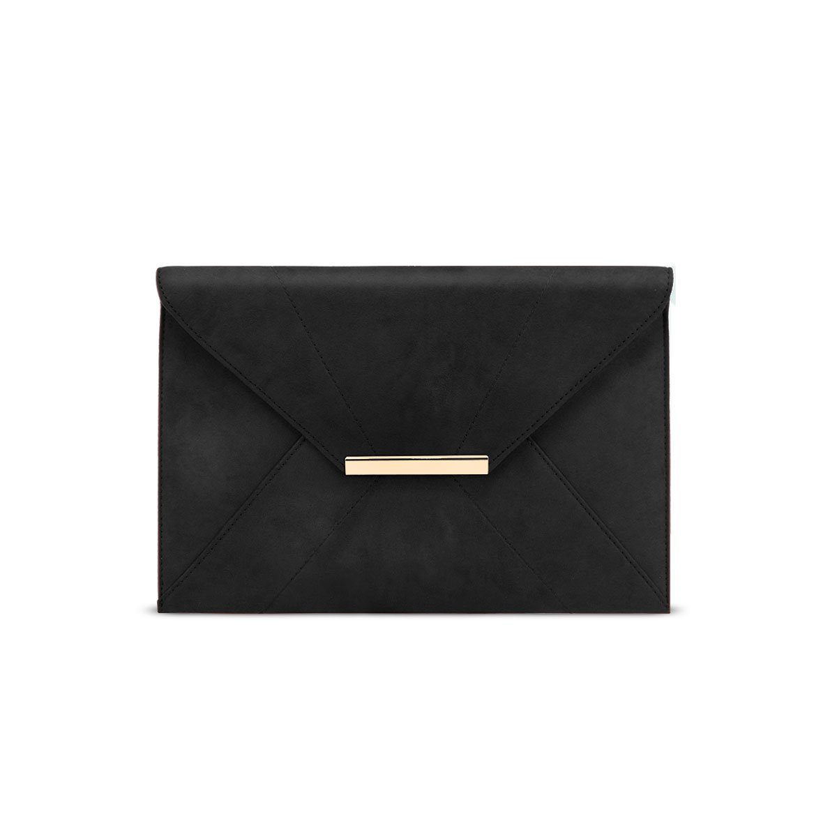 Envelope Wristlet Clutch Crossbody Bag with Chain Strap,Anna Smith Womens Evening Clutches Bag Faux Suede Magnet Hook Ladies Envelope Wedding Party Prom Thin Bags with Pocket