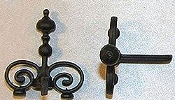 Dollhouse Miniature Pair Victorian Black Fireplace Andirons