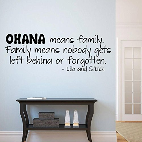 Hatop Ohana Wall Art Removable Home Vinyl Window Wall