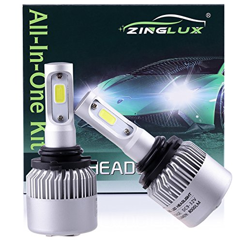 ZX2 9006 HB4 8000LM LED Low Beam Headlight Conversion Kit,Fog Driving Light,for Replacing Halogen Headlamp All-in-One Conversion Kits,COB Technology,6500K Xenon White, 1 Pair with 1 Year Warranty