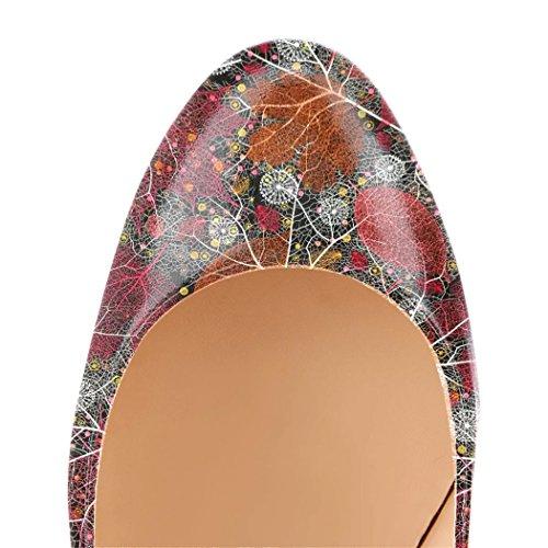 Aiguille Escarpins Elashe Rond Multi 4 Chaussures Stiletto Femmes Bout Grande Talon Taille R0OqOnaxCw