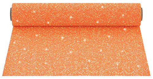 Firefly Craft Glitter Heat Transfer Vinyl For Silhouette And Cricut, 12 Inch by 20 Inch, Neon Orange