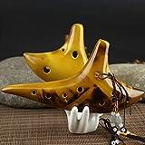 Morrenz - Yellow 12-Hole Legend Zelda Ocarina of Time Alto C Smoldering Ceramic Flute Ocarina New Friend Gift