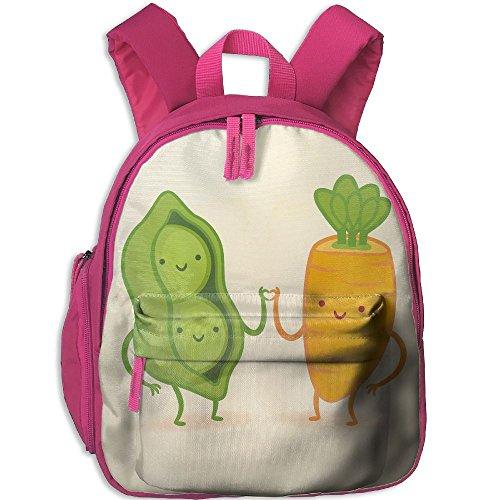 Kid's Pre School Backpack Boy&girl's Peas And Carrot Book Bag