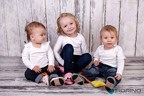 Fiorino piel–Patucos de zapatos de bebé lauflern–Zapatos de motivos en diferentes colores y Tamaños azul Fuchs Blau Talla:L Zug