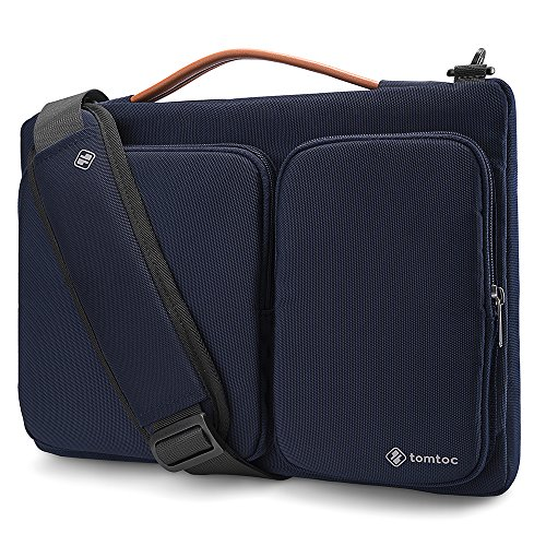 tomtoc 360 Protective Laptop Shoulder Bag for for 15 Inch Old MacBook Pro Retina, Dell XPS 15, 15 Inch Microsoft Surface Book 2, The New Razer Blade 15, Notebook Case Bag