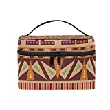 Cosmetic Case Bag Africa Pattern Portable Travel Makeup Bag Toiletry Organizer