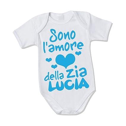 """fd5257956f Body Neonato Bodino Bimbo """"Personalizzato Con Nome Amore Della ..."""