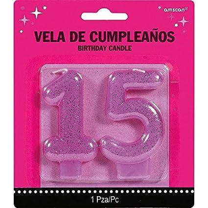 Amazon.com: Elegante Mis Quince Años Nº 15 velas fiesta de ...