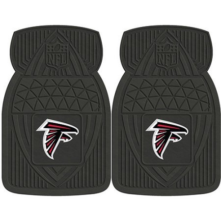 Sports Licensing Solutions LLC NFL 2-Piece Heavy-Duty Vinyl Car Mat Set, Atlanta Falcons ()